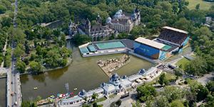 Die Veranstaltungshalle für die WM in Budapest 2017
